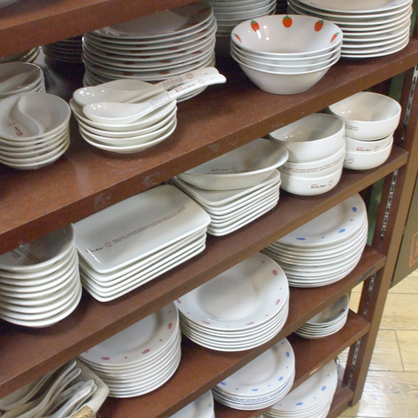 100 yen shop bowls selection