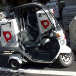 Pizza-la delivery scooter bike