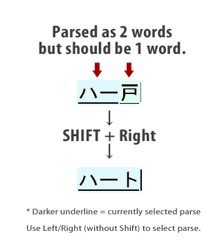 How to fix parsing range problems on your Japanese IME