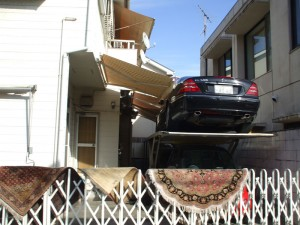 Japanese parking: piggy-back technique