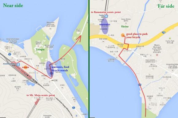 amanohashidate map